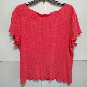 Red Dress Barn Wide Neck Blouse EUC XL